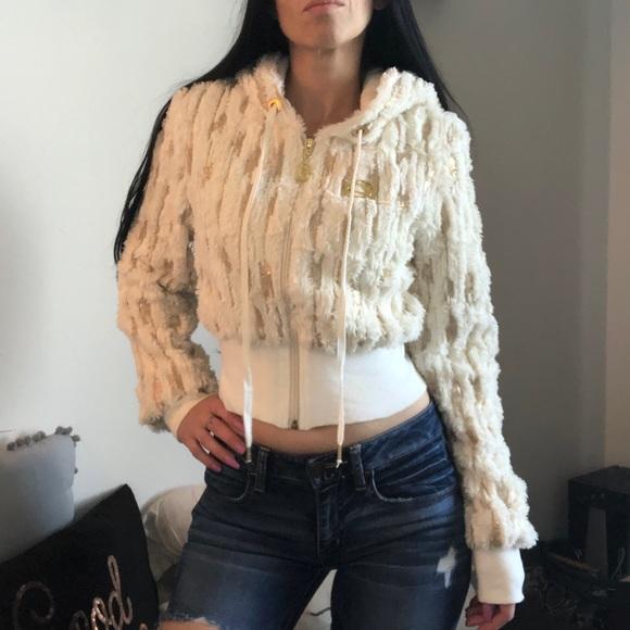 bebe Jackets & Blazers - *SOLD**bebe Fur And Sequin Jacket